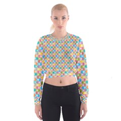 Seamless Pattern Background Abstract Cropped Sweatshirt by Simbadda