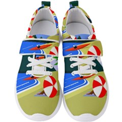 Beach Summer Sea Ocean Water Sand Men s Velcro Strap Shoes by Simbadda
