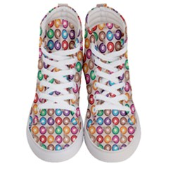 Seamless Pattern Background Abstract Women s Hi Top Skate Sneakers