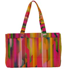 Background Abstract Colorful Canvas Work Bag by Simbadda