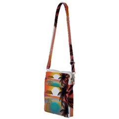Sunset Beach Beach Palm Ocean Multi Function Travel Bag