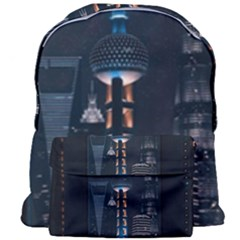 Lighted Tower Beside Building Giant Full Print Backpack