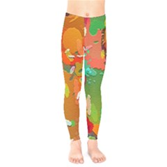 Background Colorful Abstract Kids  Legging by Simbadda