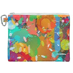 Background Colorful Abstract Canvas Cosmetic Bag (xxl) by Simbadda