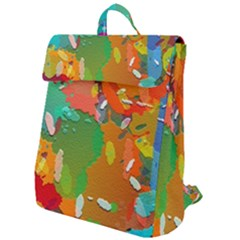 Background Colorful Abstract Flap Top Backpack by Simbadda