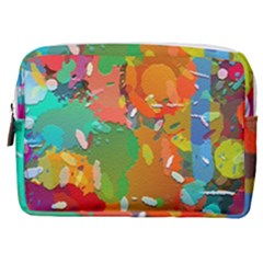Background Colorful Abstract Make Up Pouch (medium) by Simbadda