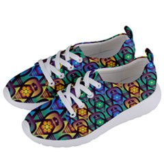 Pattern Background Bright Blue Women s Lightweight Sports Shoes by Simbadda
