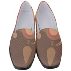 Background Tribal Ethnic Red Brown Women s Classic Loafer Heels by Simbadda