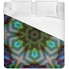 Art Background Flames Duvet Cover (king Size) by Simbadda