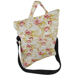 Vintage Roses                Fold Over Handle Tote Bag by LalyLauraFLM