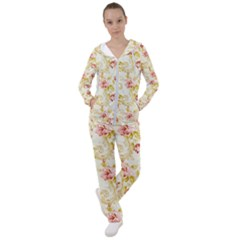 Vintage Roses              Women s Tracksuit by LalyLauraFLM