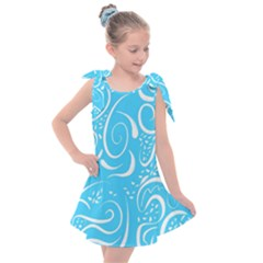 Scribble Reason Design Pattern Kids  Tie Up Tunic Dress