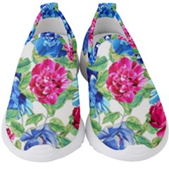 Flowers Floral Picture Flower Kids  Slip On Sneakers by Simbadda