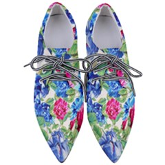 Flowers Floral Picture Flower Pointed Oxford Shoes