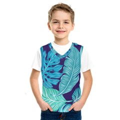 Tropical Greens Leaves Design Kids  Sportswear
