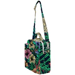 Hibiscus Flower Plant Tropical Crossbody Day Bag by Simbadda