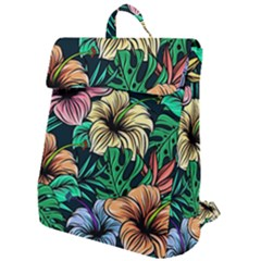 Hibiscus Flower Plant Tropical Flap Top Backpack by Simbadda