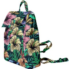 Hibiscus Flower Plant Tropical Buckle Everyday Backpack by Simbadda
