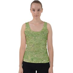 Grass Velvet Tank Top by SusanFranzblau