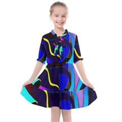 Curvy Collage Kids  All Frills Chiffon Dress by bloomingvinedesign