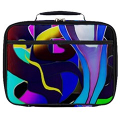 Curvy Collage Full Print Lunch Bag