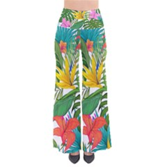 Tropical Greens Leaves Monstera So Vintage Palazzo Pants by Simbadda