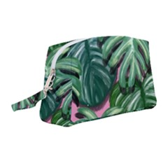 Painting Leaves Tropical Jungle Wristlet Pouch Bag (medium) by Simbadda