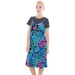 Leaves Picture Tropical Plant Camis Fishtail Dress