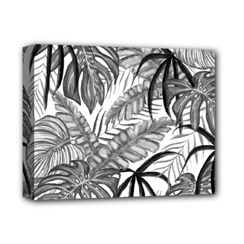 Drawing Leaves Nature Picture Deluxe Canvas 14  X 11  (stretched) by Simbadda