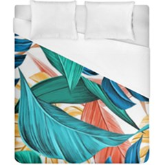 Leaves Tropical Summer Exotic Duvet Cover (california King Size) by Simbadda
