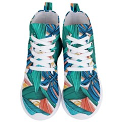 Leaves Tropical Summer Exotic Women s Lightweight High Top Sneakers by Simbadda