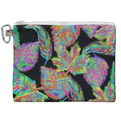 Autumn Pattern Dried Leaves Canvas Cosmetic Bag (xxl)