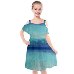 Finiteness Kids  Cut Out Shoulders Chiffon Dress by Sankofa17