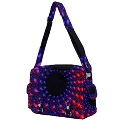 Red Purple 3d Fractals               Buckle Multifunction Bag by LalyLauraFLM