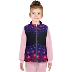 Red Purple 3d Fractals                 Kid s Puffer Vest