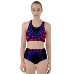 Red Purple 3d Fractals                 Bikini Swimsuit Spa Swimsuit
