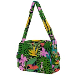 Tropical Leaves                Buckle Multifunction Bag by LalyLauraFLM