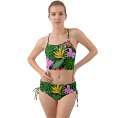 Tropical Leaves                    Mini Tank Bikini Set by LalyLauraFLM