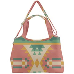 Shapes In Pastel Colors                  Double Compartment Shoulder Bag by LalyLauraFLM