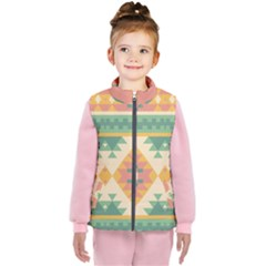 Shapes In Pastel Colors                    Kid s Puffer Vest