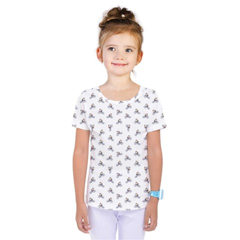 Cycling Motif Design Pattern Kids  One Piece Tee by dflcprintsclothing
