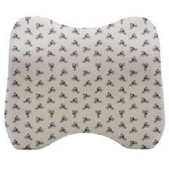 Cycling Motif Design Pattern Velour Head Support Cushion