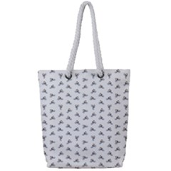 Cycling Motif Design Pattern Full Print Rope Handle Tote (small) by dflcprintsclothing