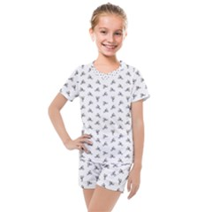 Cycling Motif Design Pattern Kids  Mesh Tee And Shorts Set by dflcprintsclothing