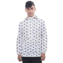 Cycling Motif Design Pattern Men s Front Pocket Pullover Windbreaker by dflcprintsclothing