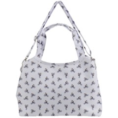 Cycling Motif Design Pattern Double Compartment Shoulder Bag
