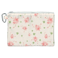 Pink Flowers Pattern Spring Nature Canvas Cosmetic Bag (xl) by TeesDeck