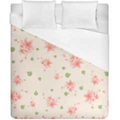 Pink Flowers Pattern Spring Nature Duvet Cover (california King Size) by TeesDeck