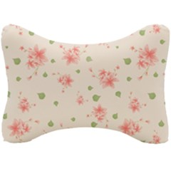 Pink Flowers Pattern Spring Nature Seat Head Rest Cushion by TeesDeck