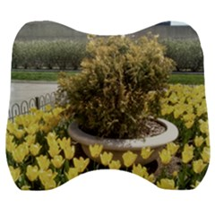 Columbus Commons Yellow Tulips Velour Head Support Cushion